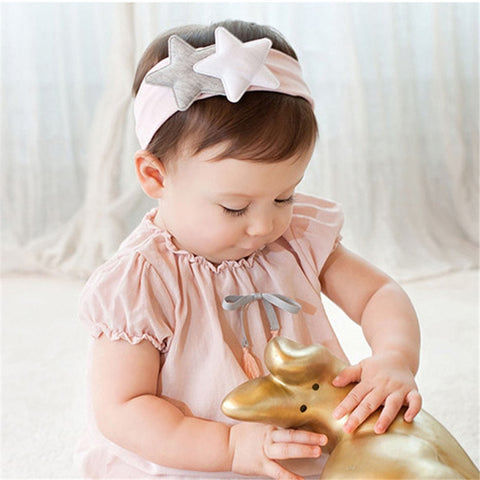 Baby Girls Cute Star Headbands Bandana Scarf Hair Band Infant Toddlers Head Wrap Bebe Knot Headwear Hair Accessories