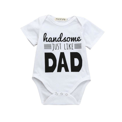 Newborn Infant Baby Boys Girls Letter Print Romper Jumpsuit Outfits Clothes psw0704