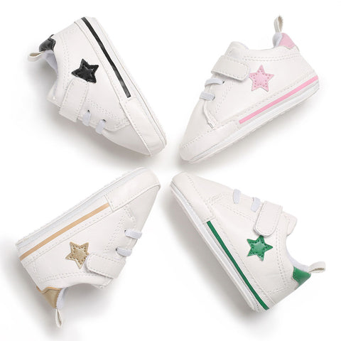 Baby Shoes Girls Soft Anti-skid Newborn Shoe Infant Stars For Boys Brand New Bottom Leather Toddler
