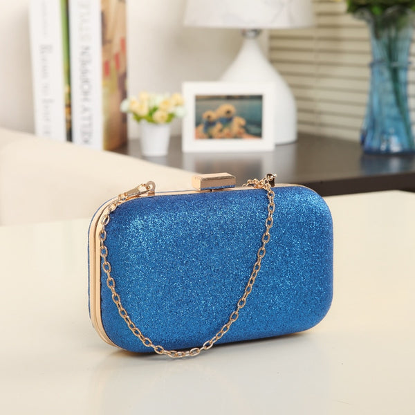 Women Mini Evening Bag Shoulder Bags Crossbody Handbag Gold Clutch Chain Bags for Party Prom Wedding Day Clutches Purse Female