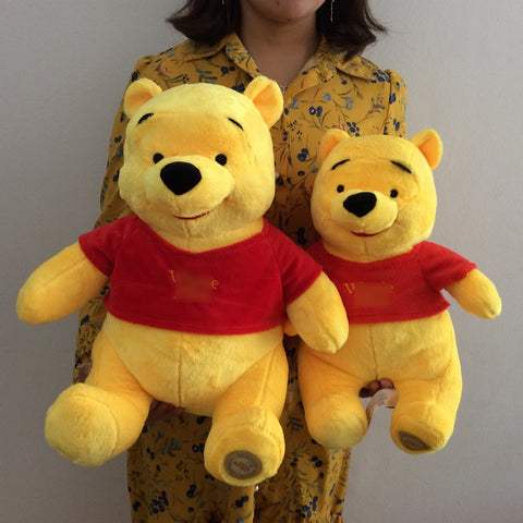 Free Shipping 1pcs Yellow Winnie Bear Stuffed Animals Plush Toys Soft kids Doll for boy&girl birthday gift