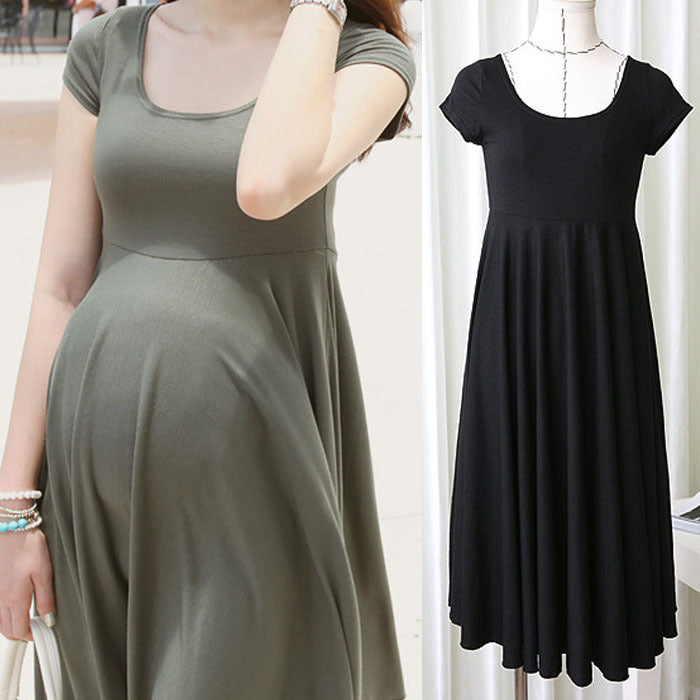 8662c2ce2af Summer Fashion Maternity Dresses Clothes For Pregnant Women Clothing O-neck  Short Sleeve 4 Colors ...