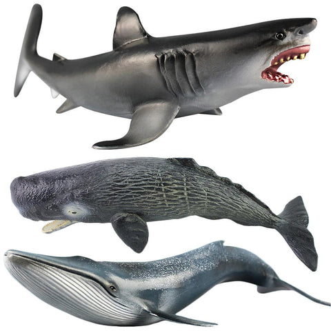 Ocean Sealife Animals Large Emulational Blue Whale Sperm Whale Shark Animal Model For Kids Learning Toy Children Gift