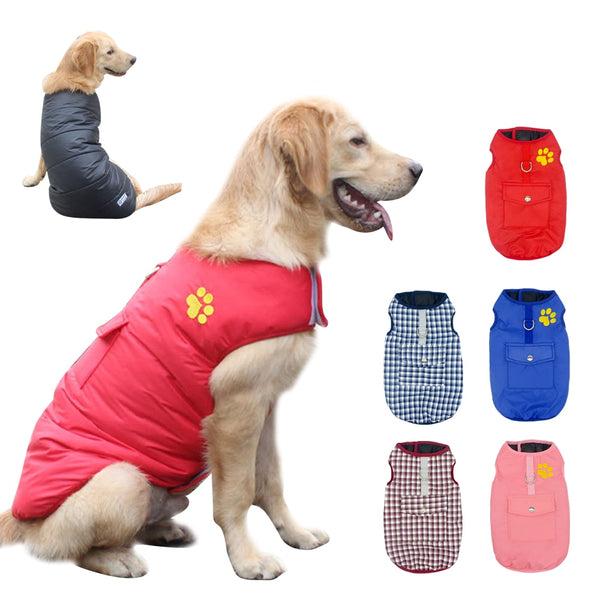 Winter Dog Pets Clothes Clothing for Small Large Dogs Waterproof Pet Vest Jacket Coat Chihuahua Pug French Bulldog Clothes