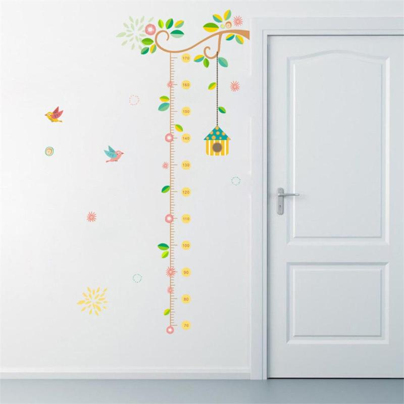 Cartoon Kids Height Measure Sticker DIY Child Bedroom Wall ...