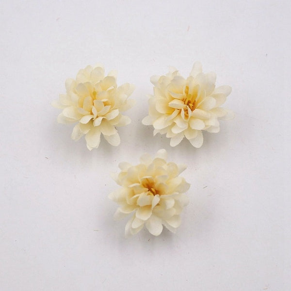20pcs Mini 3cm Carnations Handmade Artificial Flower Head For Wedding Decoration DIY Wreath Gift Scrapbooking Craft Fake Flower
