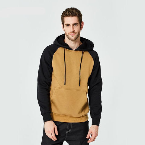 Hoodies Men Thick Hooded Patchwork Sweatshirts Long Sleeve Chandal Hombre Mens Casual Hip Hop High Streetwear Fleece Hoody