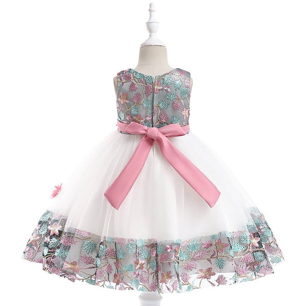 Baby Embroidered Formal Princess Dress for Girl Elegant Birthday Party Dress Girl Dress Baby Girl Christmas Clothes 2-14 Years