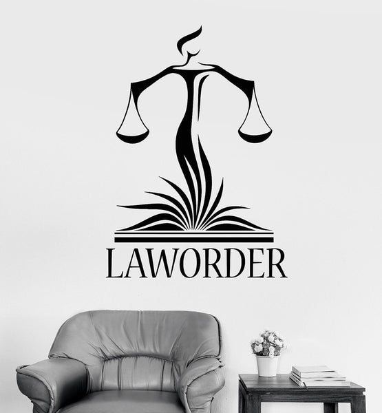 Law Office Wall Decor Decals Lawyer Justice Libra Court Stickers Modern Home Interior Decoration Wallpaper Z959
