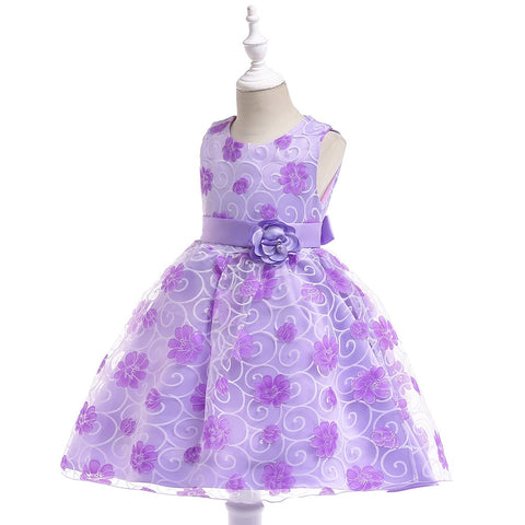 Real Photo Lovely Blue Flower Girl Dresses for Weddings Kids Evening Dress Holy Communion Dresses For Girls Pageant Gowns