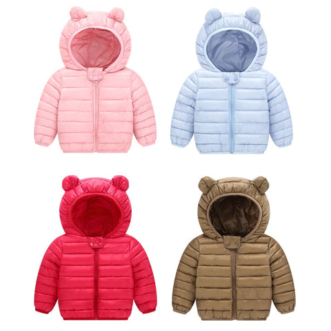 New Baby  Winter Coats Down Cotton  Coat  Jacket kids Baby  Clothes Hooded infant  Down Jacket For Boys And Girls
