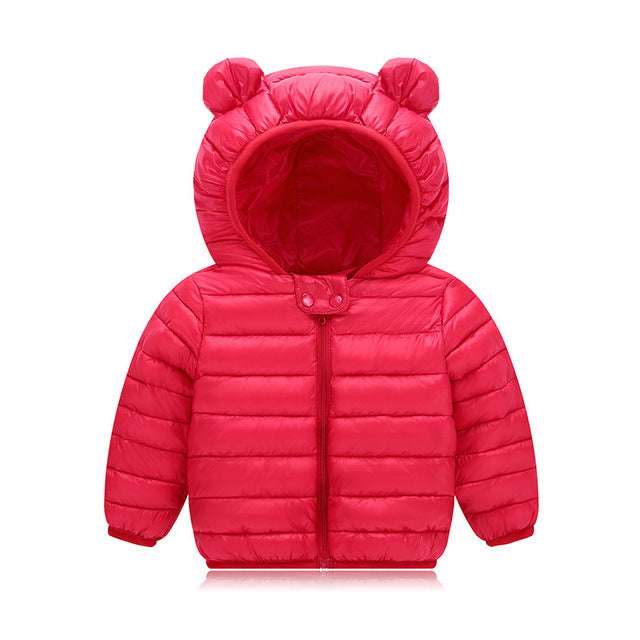 3f7416023d12 New Baby Winter Coats Down Cotton Coat Jacket kids Baby Clothes ...