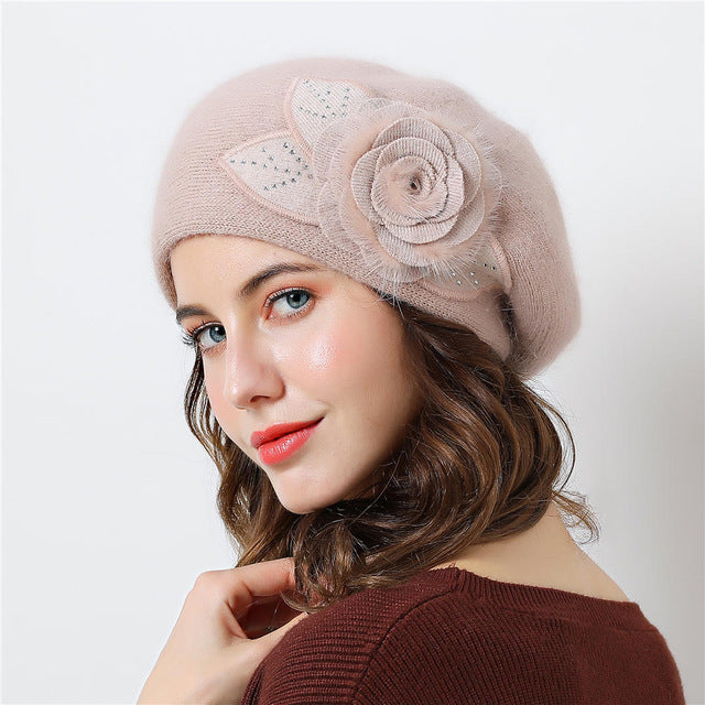 d29188379f9 Double layer design winter hats for women hat rabbit fur for women s ...