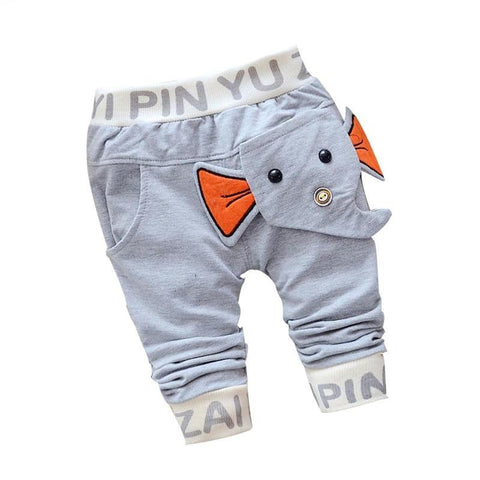 New spring&autumn baby pants cotton elephant style baby boys/girls pants 1 piece 0-2 year kids pants Casual pants