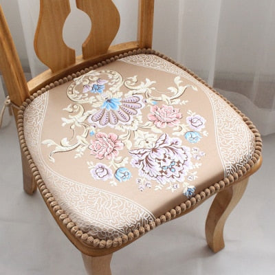 Thickened European Fabric Decorativos For Home Non-slip Coussins Coussin Almofada Not Shrink Table Dining Chair Cushion NonShift