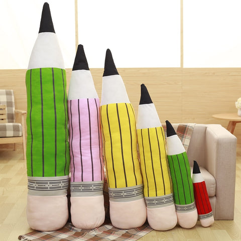 1pc Creative Plush Pencil Pen Toy Pillow Cushion Bolster Stuffed Toys Dolls Birthday Wedding Gift Home Bedroom Shop Decor