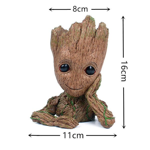 Skull Flower Vase Handmade Baby Action Figure Resin Kawaii Twig Guardians Tree Men Aquarium Decoration Pen Holder
