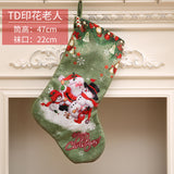 3D Printing Snowman Santa Clause Elk Merry Christmas Pendant Ornament Stockings Heartwarming Christmas Gadget Xmas Gift Socks