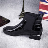 Women Boots Weather Autumn Winter Shoes Woman Square Toe Block Heels Peluche Ankle Boots Female Botas Mujer