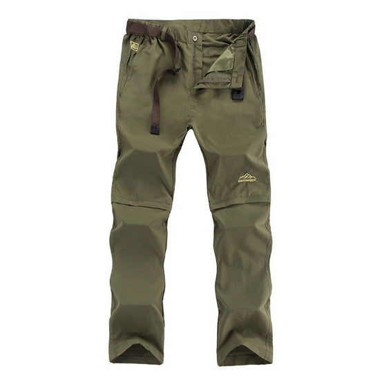 New Men's Summer Removable Quick Dry Cargo Pants Casual Male Breathable Army Military Short Trousers Plus Size 6XL