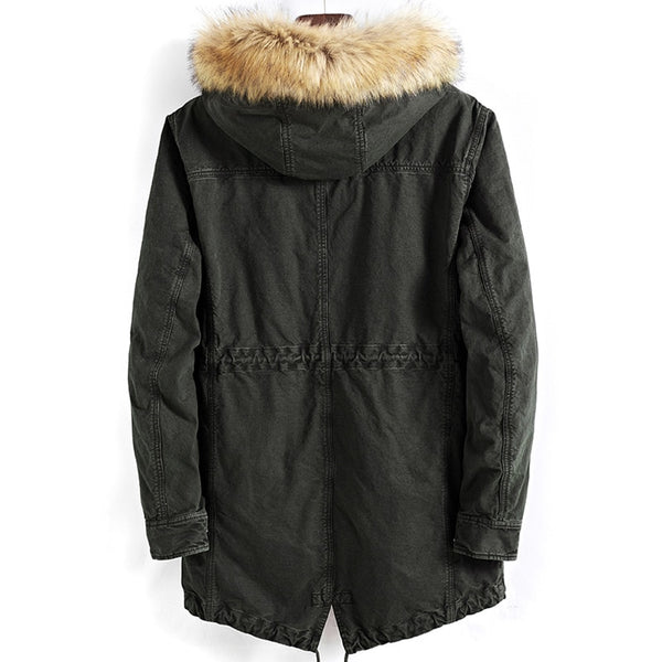 Men Winter Fleece Thick Parkas Jackets And Coats Hombre Male Casual Fashion Slim Fit Large Size Hooded Jackets