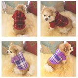 Winter Pet Dog Clothes For Small Dogs Warm Fleece Plaid Dog Hoodies Sweater Sport Sweatshirt Coat Jacket Hooded Costume Apparel