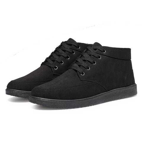 Men Boots Winter Snow Boots For Man Lace-Up Style Fashion Casual Plush Non-slip Keep Warm Youth Cotton Shoes