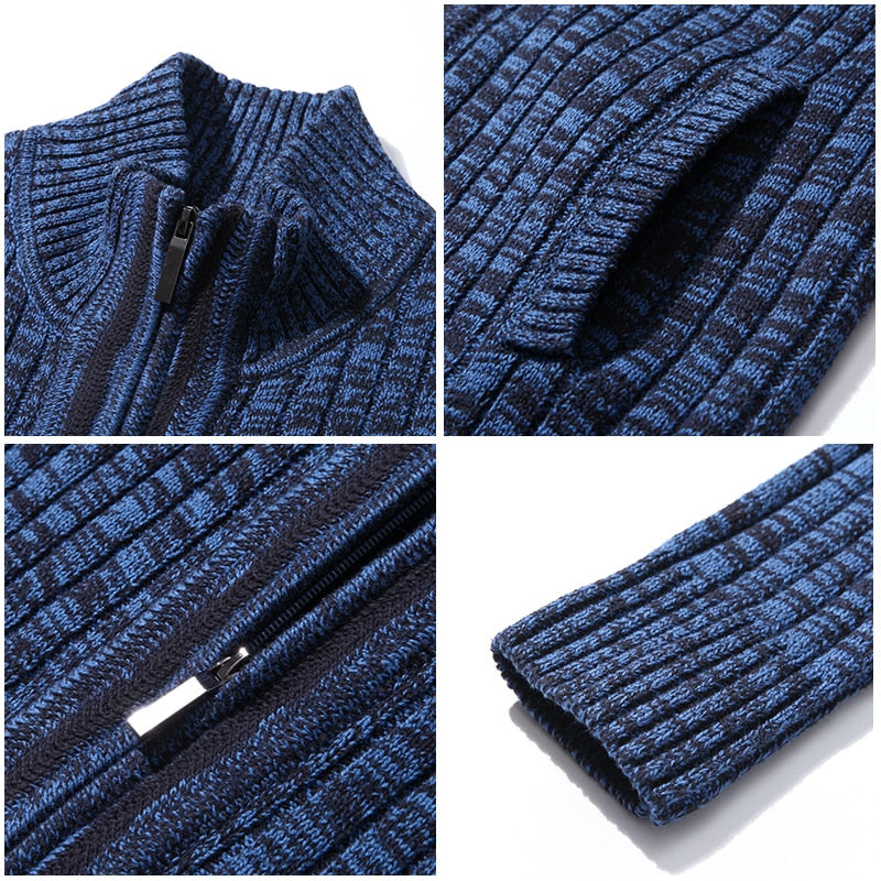 Men sweaters knitted zipper cardigan male Top quality famous brand clothing christmas sweater
