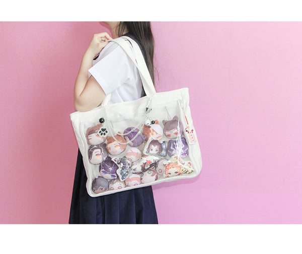 Window Lolita Canvas Handbag Shoulder Bag Candy Color Lovely Itabag