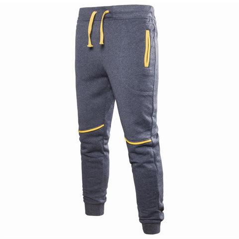 fashion Sweatpants Men Zipper Pockets Solid Color pants men Casual Trousers Men Clothes Joggers Pants Man Street Wear