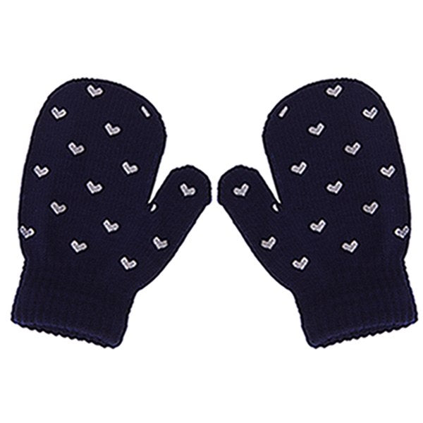 Winter Boys Girls Soft Knitting Warm Wrist Gloves Mittens Kids Dot Star Heart Pattern Children Fashion Lovely Hot Gloves