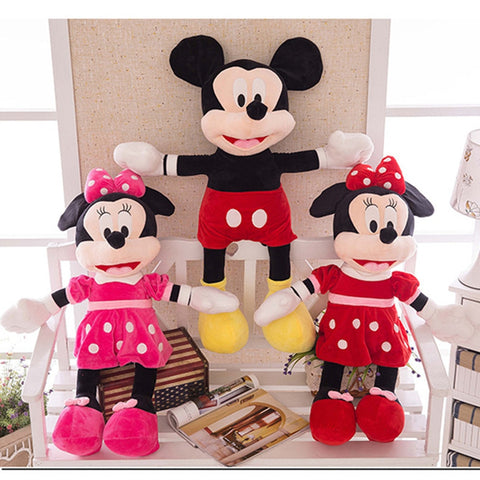 40-100cm High Quality Stuffed Mickey&Minnie Mouse Plush Toy Dolls Birthday Wedding Gifts For Kids Baby Children