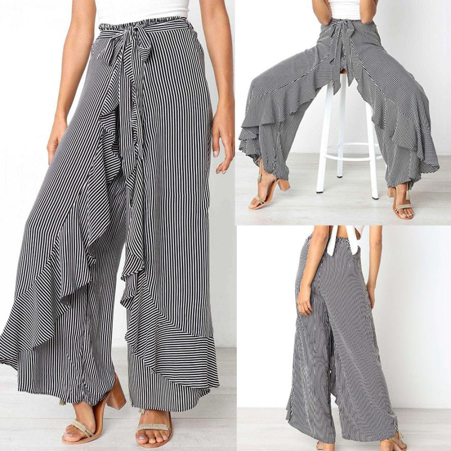 JOHNKART.COM.  35.12 USD. Woman jeans Ladies Summer Striped Wide Leg ... aaf500328