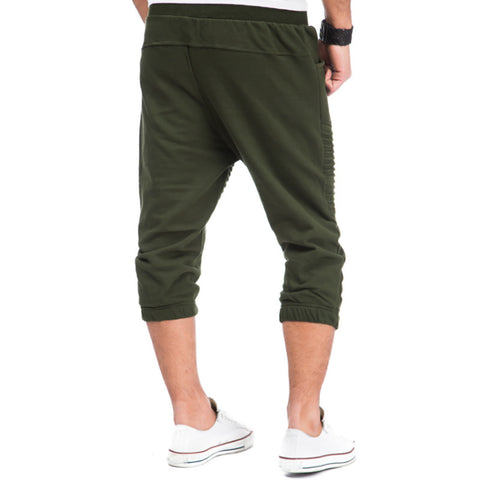Streetwear Army Green Men Military Tracksuit Sweatpants Slim Fitness Joggers Casual Pants Polyester Calf Length S-3XL INCERUN