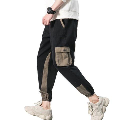 Spring Autumn New Mens Joggers Pants Casual Slim Fit Multi-pocket Hip Hop Sweatpants Men