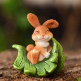 Garden rabbit cute animals pieces of creative flowerpot micro-landscape decoration office living ro sculpture crafts statue home