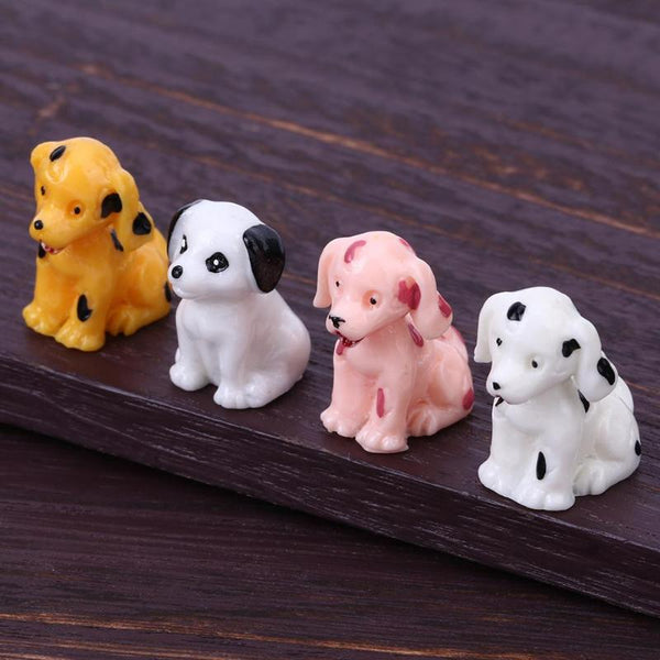 1pc Cartoon Cute Dog Resin Micro Landscape Ornament Pot Garden Craft Decoration Miniature Micro Gnome Terrarium Gift