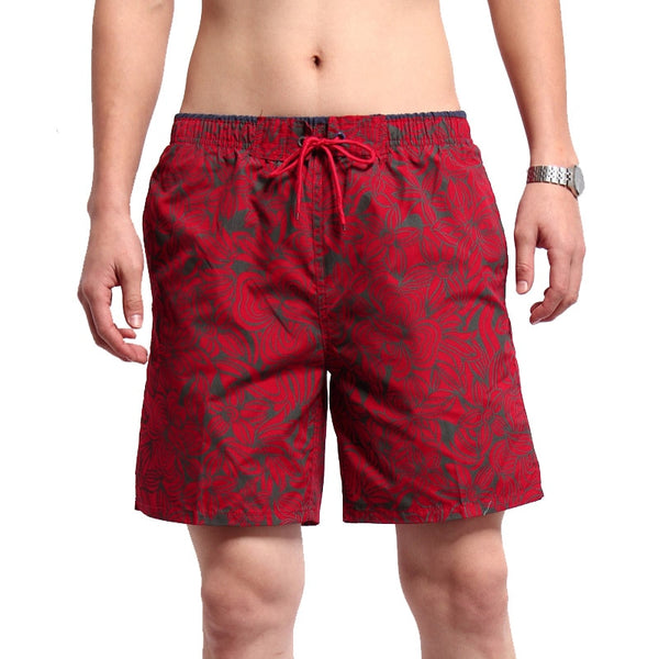 Quick Dry Summer Beach Shorts Men Casual Slim Flower Printed Bermuda Men's Shorts