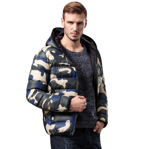 Men'S Clothing Winter Jacket With Hoodies Outwear Warm Coat Male Solid Casual Coat Men Casual Warm Down Jacket