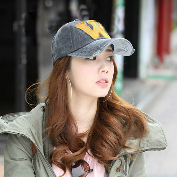 Baseball Cap Women's Men's Snapback Hats Unisex Summer Adjustable Letter W Hockey Casual Caps outdoor Hip Hop Hats