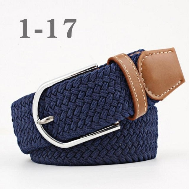 Elastic Belt Knitted Canvas Belts Decoration Girdle Female Pin Buckle Strap Women And Man Adult Casual High Quality Fashion 2018
