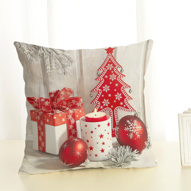 merry christmas decorations for home square linen cover cushion new christmas gift decoration pillowcase christmas ball - Merry Christmas Decorations