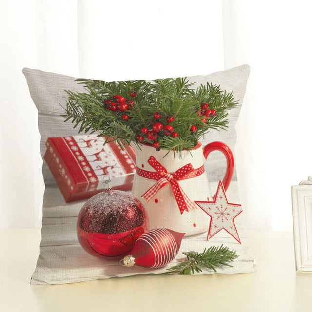 merry christmas decorations for home square linen cover cushion new christmas gift decoration pillowcase christmas ball - New Christmas Decorations