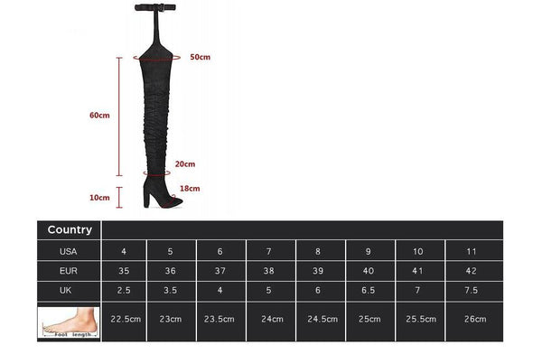 New Fashion Women Boots Winter over knee long boots heels faux suede quality comfort block heels slim tight high women boot