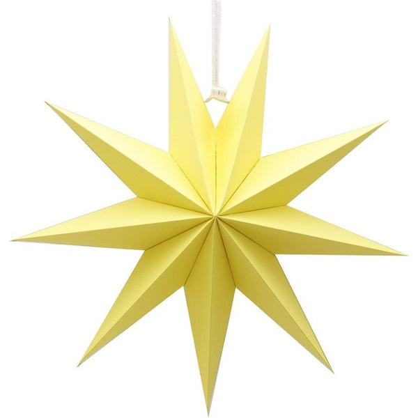 "1pcs 30cm 6"" DIY Nine Angles Paper Star Hanging Christmas Lantern Home Party Decoration Craft"