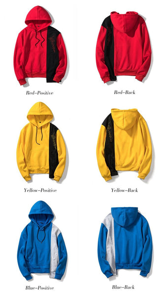 Fashion Hoodies Men New Hip Hop Streetwear Cotton Warm Jacket Casual Patchwork Hooded Sweatshirt Plus Size Men Hoody