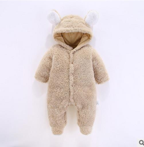 67c3f4a0032 ... New born baby clothes Coral Fleece warm Baby boy winter clothes Animal  bear Overall baby unisex ...