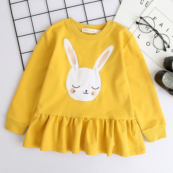 Bear Leader Girls Clothing Sets Girls Clothes Butterfly Sleeve Letter T-shirt+Floral Voile Skirts 2Pcs for Dress Girl