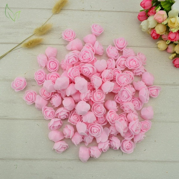 100pcs PE Foam fake flower roses head artificial flowers cheap wedding decoration for scrapbooking gift box diy wreath Multi-use