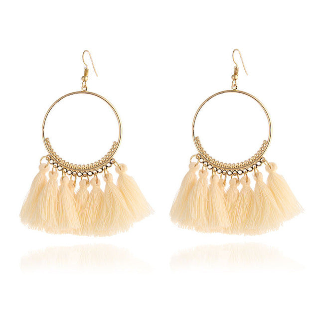 Bohemian Handmade Earrings For Women Boho Style Woman Tassel Earring Female Jewelry Bridal Fringed Vintage Long Earrinngs Gifts
